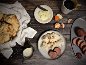 Biscuits and Sausage -TuttleKitchen