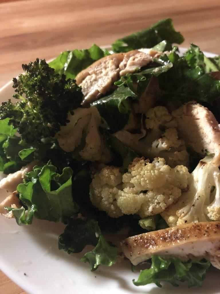 Roasted Veggie and Chicken Salad - Tuttle Kitchen