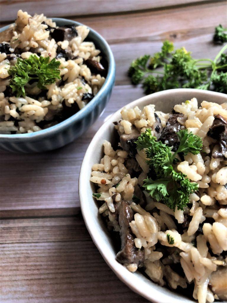 Mushroom Rice -Tuttle Kitchen