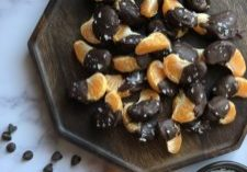 Dark Chocolate Dipped Orange Slices - Tuttle Kitchen